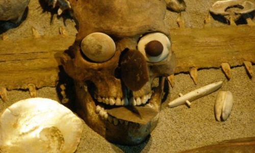 Zdjęcie MEKSYK / miasto Meksyk / muzeum kultur prekolumbijskich / oczko mu się odkleiło temu misiu...