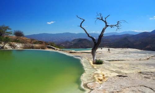 Zdjecie MEKSYK / stan Oaxaca  / Hierve el Agua / Hierve el Agua