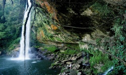 Zdjęcie MEKSYK / Chiapas / okolice  Palenque / La cascada de Misol-Ha