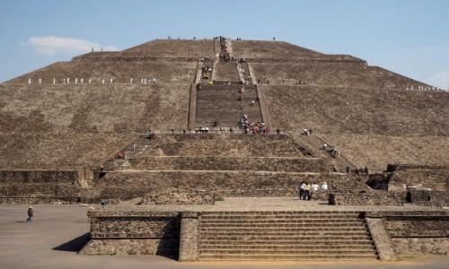 Zdjęcie MEKSYK / północny wschód od miasta Meksyk. / Teotihuacán / Piramida Słońca