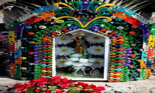 Zdjecie MEKSYK / okolice miasta Meksyk / Teotihuacán / Kapliczka