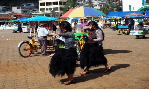 Zdjęcie MEKSYK / Chiapas / San Juan Chamula / Kobiety z plemienia Tzotzil
