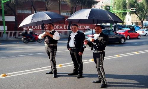 Zdjęcie MEKSYK / Mexio City / okolice  Plaza Garibaldi / Chroniąc się przed słońcem