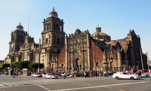 Zdjęcie MEKSYK / Mexico City / Plaza de la Constitución (Zócalo) / Katedra Metropolitalna