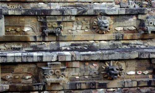 Zdjecie MEKSYK / San Juan Teotihuacan / Teotihuacan / Świątynia-Piramida Quetzalcoatla