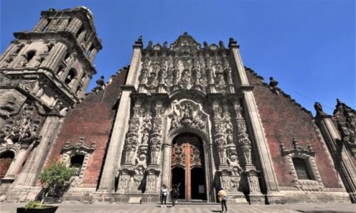 Zdjecie MEKSYK / Stolica / Mexico City / Mexico City, katedra, zakrystia