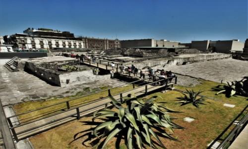 Zdjęcie MEKSYK / Stolica / Mexico City / Mexico City, pozostałości kompleksu świątyni Majów
