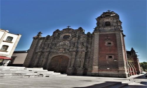 Zdjecie MEKSYK / Stolica / Mexico City / Mexico City, kościół de la Santísima Trinidad