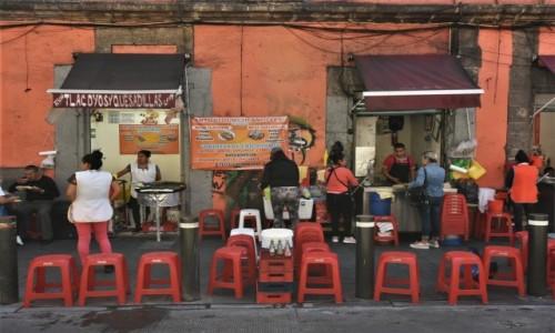 Zdjęcie MEKSYK / Stolica / Mexico City / Mexico City, uliczny bar