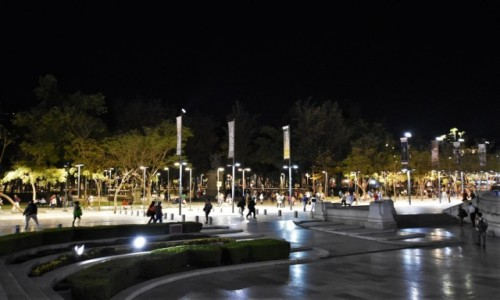Zdjecie MEKSYK / Stolica / Mexico City / Mexico City, centrum nocą