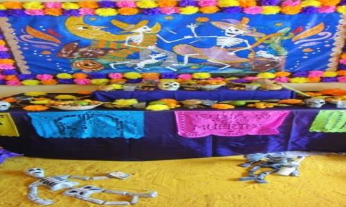 Zdjecie MEKSYK / Oaxaca / Oaxaca / Ołtarz w Oaxaca Meksyk, obchody Święta Zmarłych