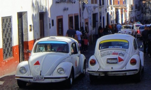 Zdjecie MEKSYK / Guerrero / Taxco / Taxco, jedyne miejsce na świecie z takimi taksówkami