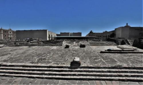 Zdjecie MEKSYK / Stolica / Mexico City / Mexico City ruiny indiańskiej świątyni