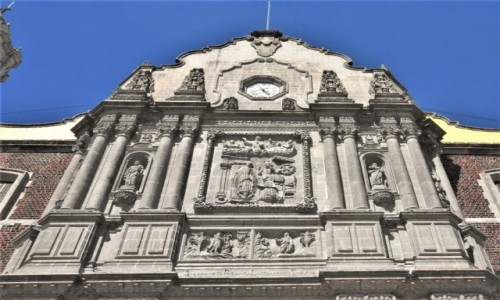 Zdjecie MEKSYK / Stolica / Mexico City / Guadalupe, zdobienie fasady bazyliki