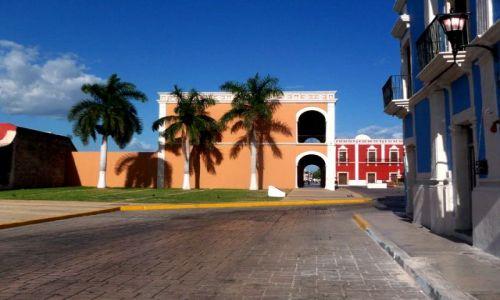 MEKSYK / brak / Campeche / uliczka prowadzaca na rynek