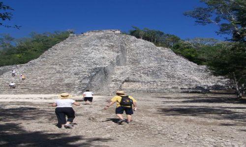Zdjęcie MEKSYK / jucatan / Coba / ruiny piramid mayow