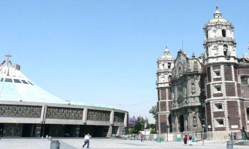 Zdjęcie MEKSYK / Meksyk / Sanktuarium / Krzywe kościoły bazyliki M.B. z Gwadalupe
