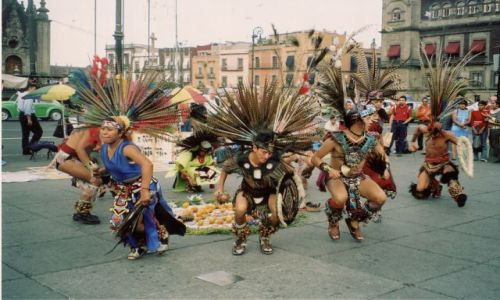 Zdjecie MEKSYK / Mexico City / Centro Historico, Plac Konstytucji / Tancerze