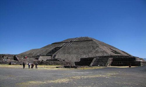 Zdjęcie MEKSYK / Ciudad de Mexico / Teotihuacan / piramida Słońca