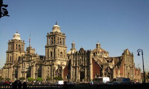 Zdjęcie MEKSYK / Ciudad de Mexico / Zocalo / Katedra