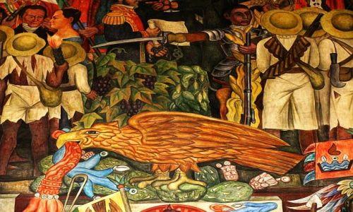Zdjęcie MEKSYK / Ciudad de Mexico / Zocalo / Fragment fresku Diego Riviery