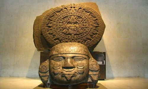 Zdjęcie MEKSYK / Ciudad de Mexico / Muzeum Antropologiczne / Kalendarz Azteków
