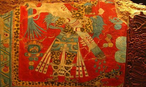 Zdjęcie MEKSYK / Ciudad de Mexico / Muzeum Antropologiczne / Freski z Bonampak