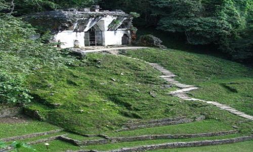 Zdjęcie MEKSYK / . / Palenque / Świątynia Liściastego Krzyża