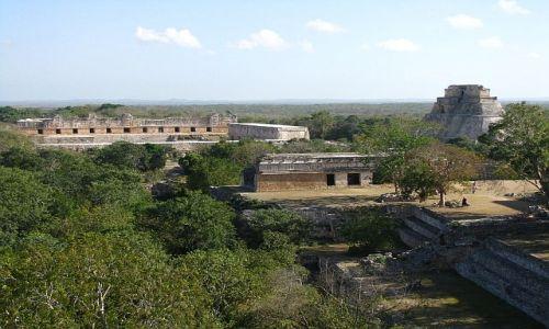 Zdjecie MEKSYK / . / Uxmal / Uxmal - panorama