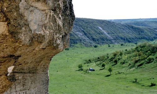 MO�DAWIA / brak / Trebujeni / Orchei Vecchi a na dole nasze obozowisko :)