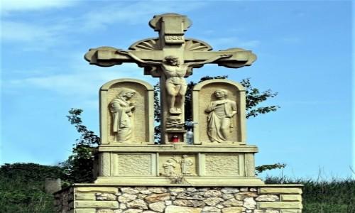 Zdjęcie MOłDAWIA / Orheiul Vechi  / . / Kamienny krzyż
