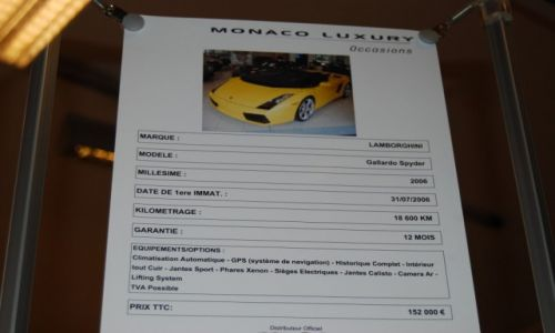 Zdjecie MONAKO / Pomiedzy Francja a Italią / Auto Salon Brand Used :)Cars Luxury / Prawdziwa okazja hehe