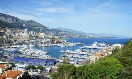 Zdjecie MONAKO / Monte Carlo / Plac przed pałacem książęcym / Widok na port