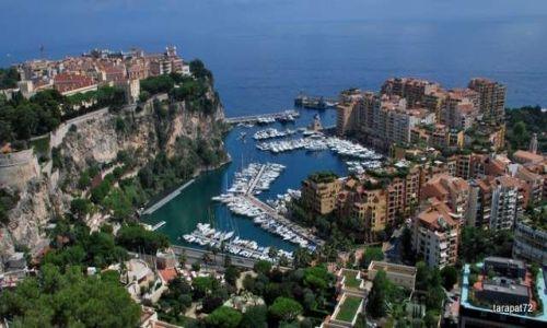 MONAKO / Lazurowe Wybrzeże / Europa / wzgórze zamkowe i nowoczesna dzielnica Monako