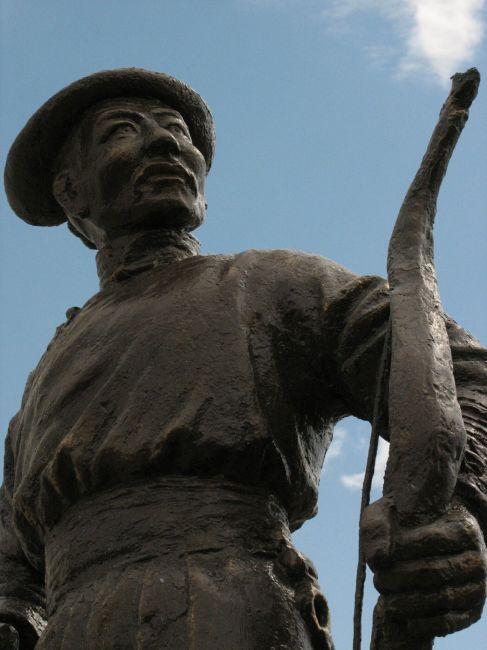 Zdjęcia: Ulan Bator, Pomnik lucznika , MONGOLIA