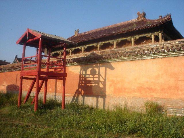 Zdjęcia: północna MOngolia, światło słoneczne na lamajskiej świątyni, MONGOLIA