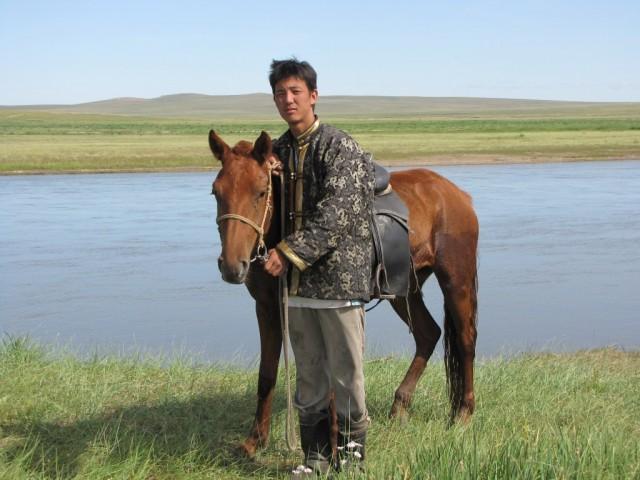 Zdjęcia: Kerulen, Ajmak Chentejski, Jeździec, MONGOLIA