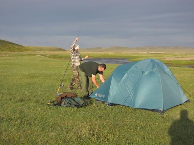 Zdjęcia: Kerulen, Ajmak Chentejski, nasze obozowisko, MONGOLIA