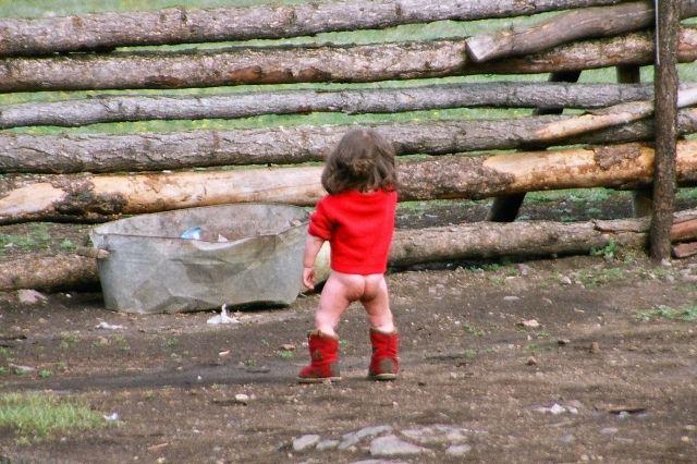 """Zdjęcia: Urjanchaj, """"tradycyjny"""" strój mongolskiego dziecka:), MONGOLIA"""