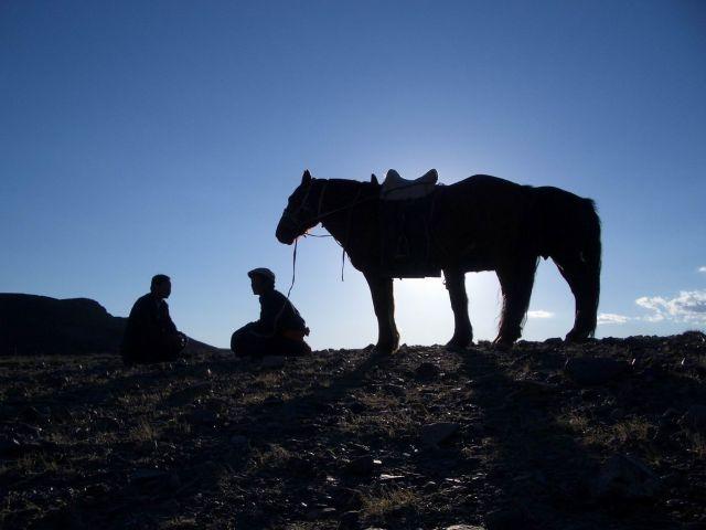 Zdjęcia: Mongolia, Ałtaj południowy, spotkanie..., MONGOLIA