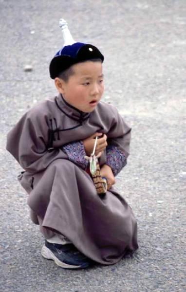 Zdjęcia: Ulaanbaatar, Töv aimag, młody zawodnik, MONGOLIA
