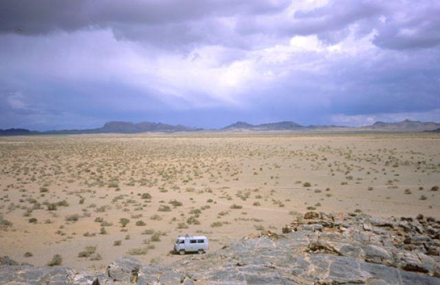 Zdjęcia: Mongolia, zachodnia Mongolia, burza nad Mongol Els, MONGOLIA