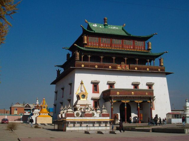 Zdjęcia: Ułan Bator, Klasztor Gandan__, MONGOLIA