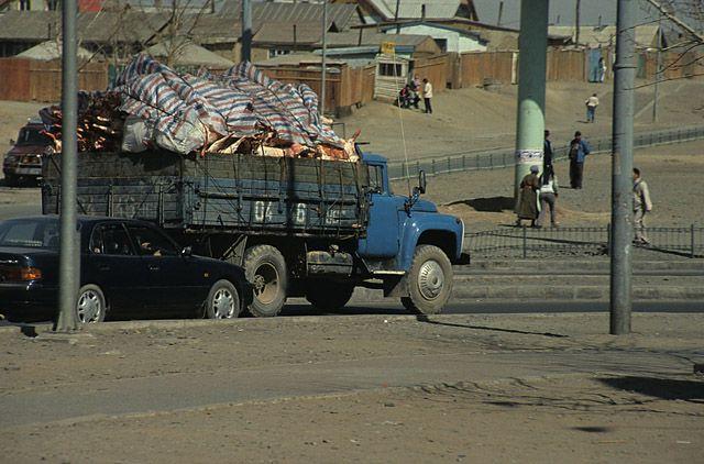 Zdjęcia: Ułan Bator, przewoz miesa, MONGOLIA