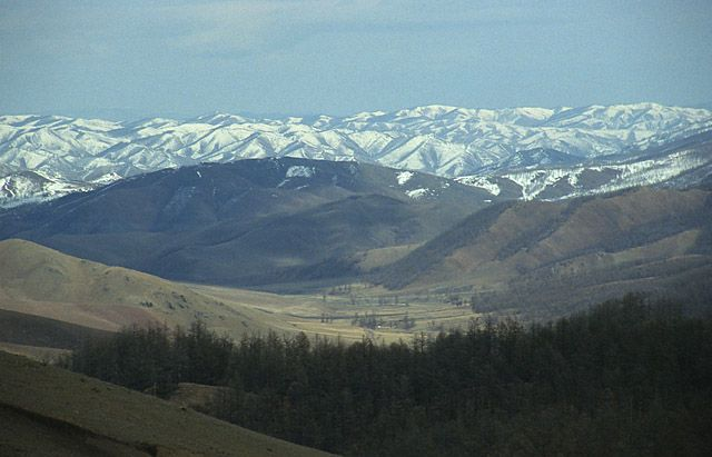 Zdj�cia: gdzies w Mongolii, gory Mongolii, MONGOLIA