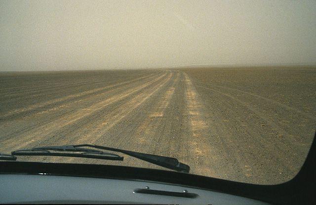 """Zdjęcia: gdzieś przed Gobi, """"droga"""" na Gobi, MONGOLIA"""