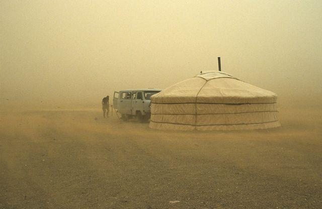 Zdjęcia: Gobi, burza piaskowa na Gobi, MONGOLIA