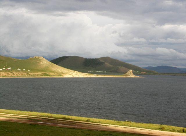 Zdjęcia: Mongolia, Terchiin Cagaan Nuur, Jezioro o świcie, MONGOLIA