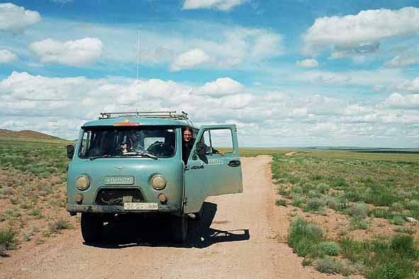 Zdjęcia: Gobi, Nasz vehicle..., MONGOLIA