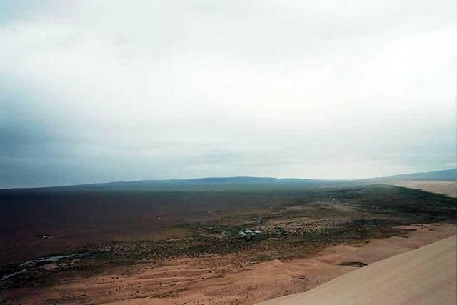 Zdjęcia: Gobi, Widok z wydmy, MONGOLIA